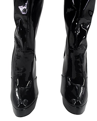 Wonderheel stiletto high heel boots patent platform over-knee stiefel crotch boots