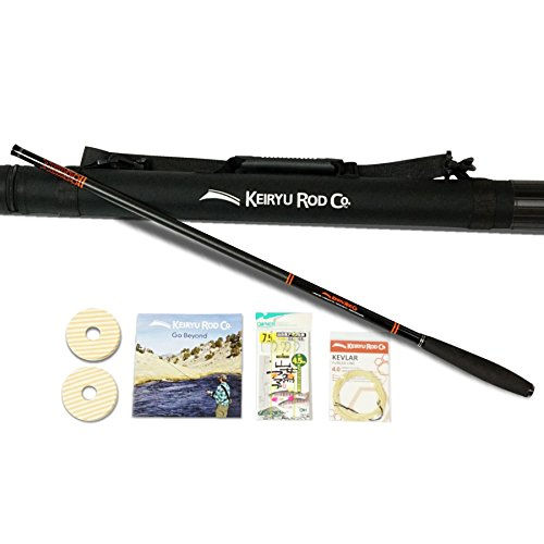 - Keiryu Rod Co. Telescoping 17.7 FT Keiryu Trout Rod, Perfect for Weighted Bait and Nymphs, High Performance IM Carbon Rod and Starter Kit