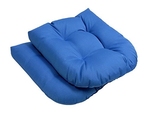High Quality - Outdoor - Solid Seat Cushions - Set of 2-Light Blue - Exclusively by Blowout Bedding