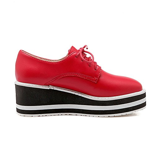 Matching American BalaMasa Imitated Womens Color Bandage Red Table Leather Shoes Muffin Pumps Buttom Water qqTg6w