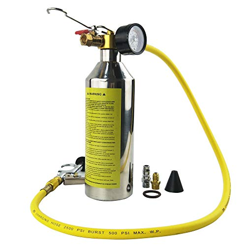 Air R12 (Wisepick AC Air Conditioning Flush Set Canister Gun Clean Tool Kit for R134a 1000ML 1/4SAE 1/4NPT)