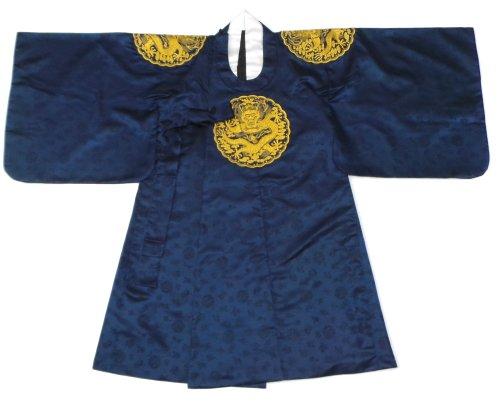 Sonjjang Men's Korean Traditional Hanbok King's Costume Wedding Ceremony Navy S/L (Hanbok Men)