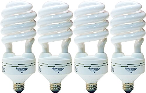 GE Lighting 78965 Energy Smart Spiral CFL 55-Watt (200-watt replacement) 3860-Lumen T5 Spiral Light Bulb with Medium Base, 4-Pack (55w Cfl)