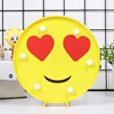 Emoticon Emoji LED Light Funny LED Table Lamp for Children Kids Mood Decoration Lights for Bedroom Wall Home Decor Battery Operated & USB Charging (Sunglasses)