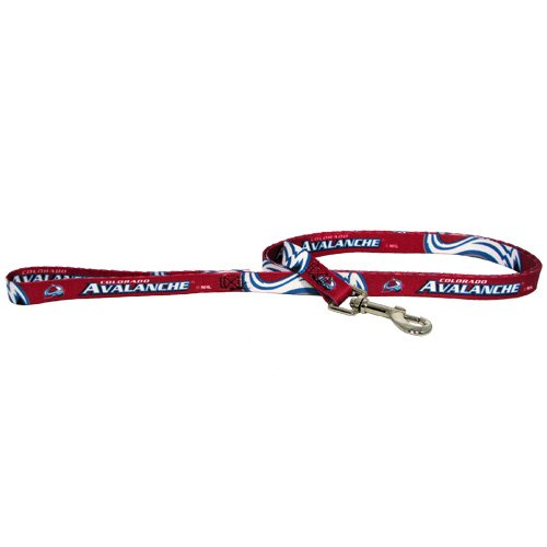 NHL Colorado Avalanche Pet Lead, Team Color, Medium