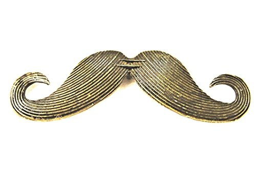 10Pcs. Tibetan Antique Bronze Large MUSTACHE Charms Pendants Findings PR253DIY for Necklace Bracelet and Crafting by CharmingSS for $<!--$16.09-->