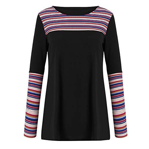 Classique Col Longues Blouse Chemise Top Ray Shirt Mode OSYARD Chemisier Top Noir Manches O Chic Chemisier Multicolore Femme qWw0CZ