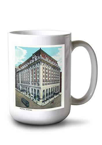 Lantern Press Cincinnati, Ohio - Hotel Sinton Exterior (15oz White Ceramic Mug)