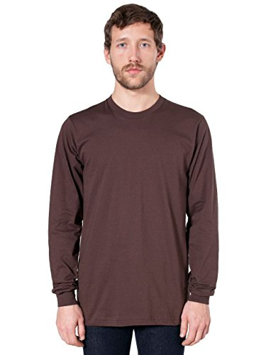 American Apparel Fine Jersey Long Sleeve T-Shirt - Brown - X-Large