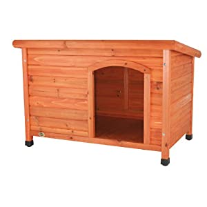 TRIXIE Classic Outdoor Wooden Dog House, Dog Kennel, Solid Wood, Weather Proof