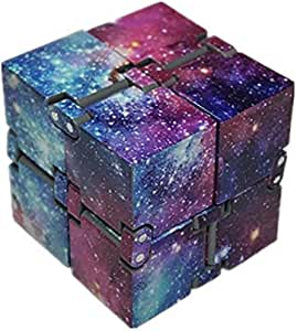 EVERMARKET Infinity Fidget Cube for Kids and Adults, Galaxy Space Starry Night Stress and Anxiety Relief Hand Mini Kill Time Toys Infinite Cube for Add, ADHD (Galaxy Space)