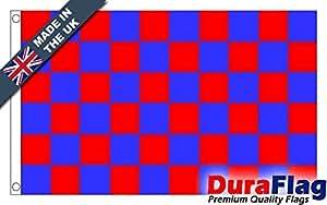 duraflag® rojo y azul check Premium calidad bandera–3ft x 2ft