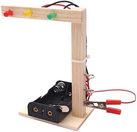 Generic DIYの信号機のおもちゃミニ交通信号アセンブリ子供クラフトIQトレーニング、就学前の自己学習、単三電池、DC 5V