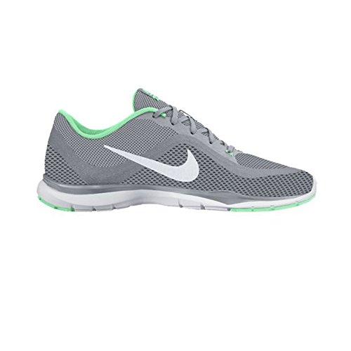 Nike Kvinna Flex Tränare 6 Varg Grå / Platina / Grön Glöd