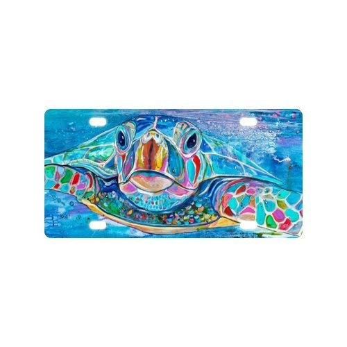 - Durable Art Turtles Auto Car Tag for Vehicle Car and Truck License Plate 6