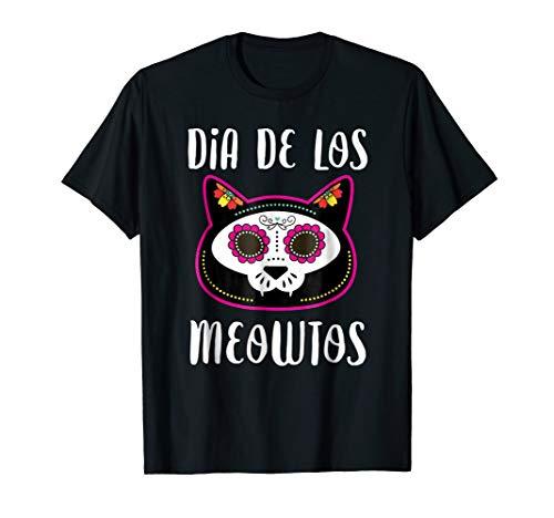 (Dia De Los Meowtos Funny Cat Muertos Shirt Day of the)