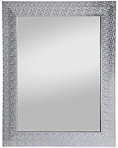 Hochwertiger Wandspiegel Rahmenspiegel Spiegel Deko silberfarben 55x70cm