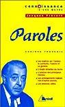 Paroles, Jacques Prévert par François
