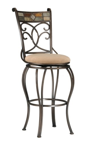 Bar Stool Black Hillsdale Furniture (Hillsdale Pompei Swivel Bar Stool)