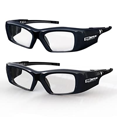 True Depth 3D® Firestorm XL Premium Quality DLP-LINK Rechargeable 3D Glasses with SteadySync (TM) Technology (2 Pairs)