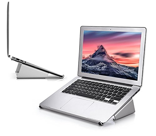AboveTEK Sleek Macbook Stand, Aluminum Laptop Stand Riser for Elegant Windows Notebook Mount up to 17', Mac Pro Air Docking Station with Ergonomic Design for Laptop & Tablet at Home Office School Desk