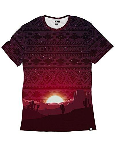 INTO THE AM Aztec Sunset Men's Casual Tee Shirt (Large) (Shirt Aztec Mens)