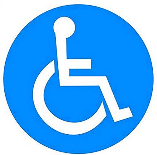 Disabled Wheelchair Sign Stickers 2 inch Disability Handicap Sign Sticker,Vinyl Sticker Decal Symbol 50 Pcs