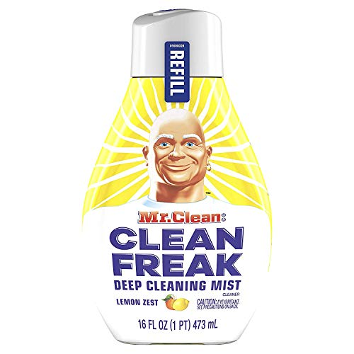 Mr. Clean Freak Deep Cleaning Mist Refill, Lemon Zest, 16 fl oz (Pack of 2)