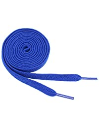 "Flat Shoelaces 5/16"" Wide Solid Colors Several Lengths For Sneakers and Shoes (Royal Blue-45)"