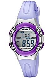 HighQuality PASNEW Water-proof Children Girls Sport Watch N1 (Purple)