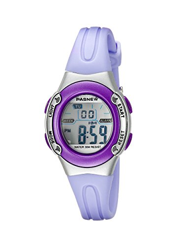 PASNEW HighQuality PASNEW Water-proof Children Girls Sport Watch N1 (Purple)