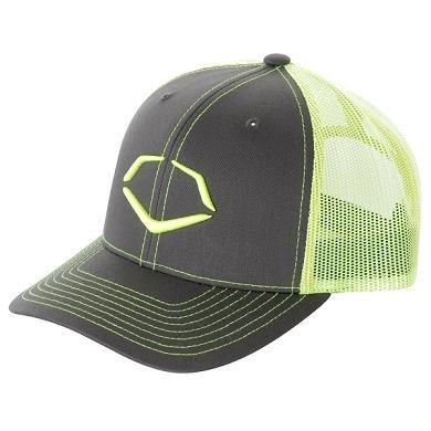 Evoshield Neon Trucker Flex Fit Hat Small/Medium Yellow/Grey