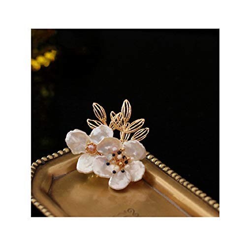 Natural Baroque Pearl Flower Brooch For Women Beautiful Brooches,1 ()