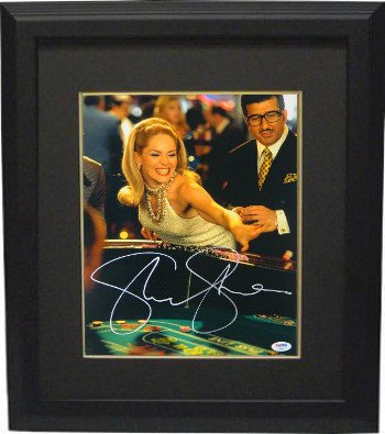 Sharon Stone Signed Autograph Casino 11x14 Photo Framed Rolling Craps Dice- PSA Hologram from Sports Collectibles