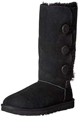 Ugg Women's Bailey Button Triplet Boot, Black, 5 M US