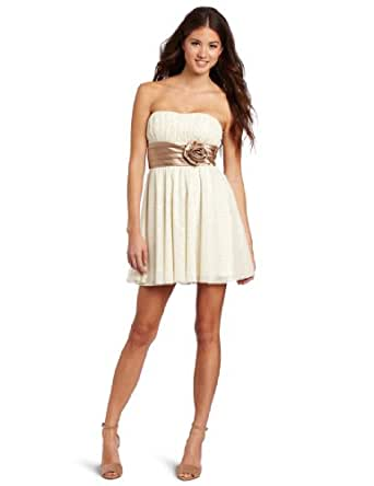 Teeze Me Juniors Disco Dot Party Tube Dress, Ivory, 9
