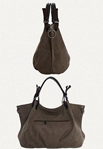Crossbody Woman Shoulder Oversized Handbags Weekender Bag Backpack Messenger trim Bookbag Hobo Leather with A Canvas bag Rucksack z0gfxrz