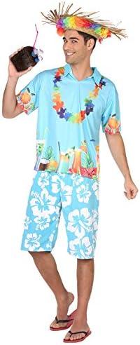 Atosa-38610 Disfraz Hawaiano, Color Celeste, XL (38610): Amazon.es: Juguetes y juegos
