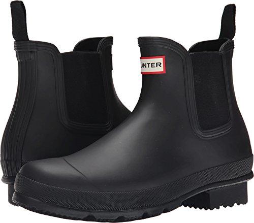 Hunter Mens Original Dark Sole Chelsea Black Rain Boot - 12 by Hunter