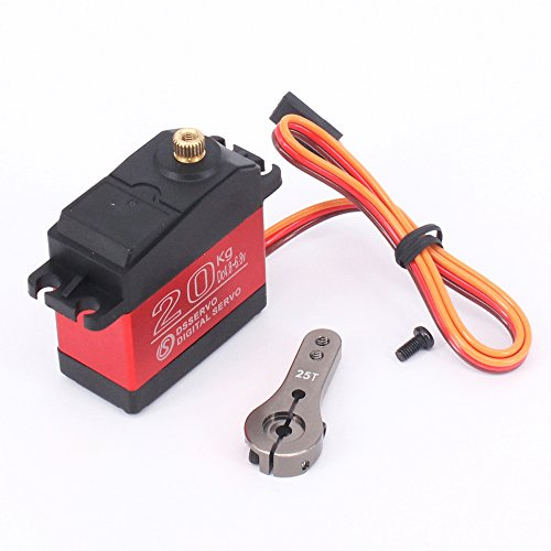 ZOSKAY 1X DS3218 Update servo 20KG Full Metal Gear Digital servo Baja servo Waterproof servo for Baja Cars(Control Angle 180)