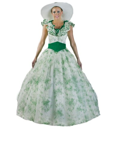 Women's Scarlett O'Hara Southern Belle Dress M White/Green]()