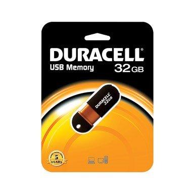 Duracell 32GB USB 2.0 Thumb Drive [32 Gigabyte Memory Capacity Capless Flash Stick Pen for PC Mac Desktop Laptop MacBook iMac Apple HP Dell Asus Acer Lenovo IBM Chromebook Windows ()