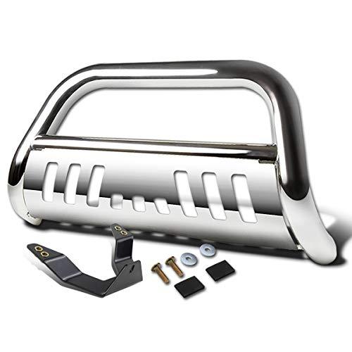 For 4Runner N280 3 inches Chrome Bumper Push Bull Bar + Skid Plate + Relocation Kit ()