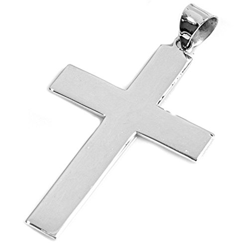Cross Pendant .925 Sterling Silver Charm - Silver Jewelry Accessories Key Chain Bracelet Necklace -