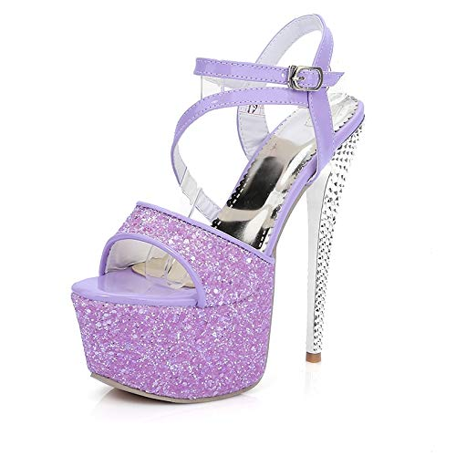 Zapatos Hebilla Grande Thing High Fiesta Mujer Hoesczs Dama Plataforma Correa nbsp; nbsp;2018 Tamaño Rojo Purple 43 34 Sandalias nbsp; Heels De Azul qxZI0wxO