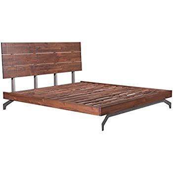 Amazon.com: Modern Contemporary Urban Bedroom King Size Bed Frame ...