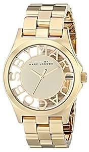 Marc Jacobs MBM3206 - Reloj para mujer con correa de acero, color dorado/gris