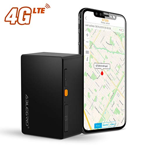 ABLEGRID 4G LTE GPS Tracker, GT200 Real-time GPS Tracking Device Portable for Vehicles and Persons Hidden Magnetic Mini GPS Locator Tracker for Cars - Free Global SIM Card (Free Gps Tracker For Cars)