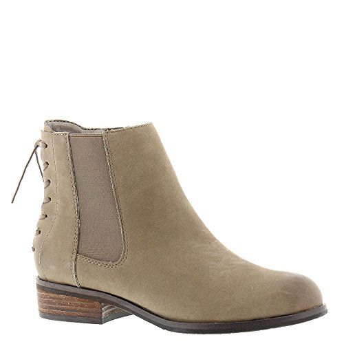 Array Womens Taupe Leather Mid Logan Calf Fashion Boots Toe Closed rrTA1wq