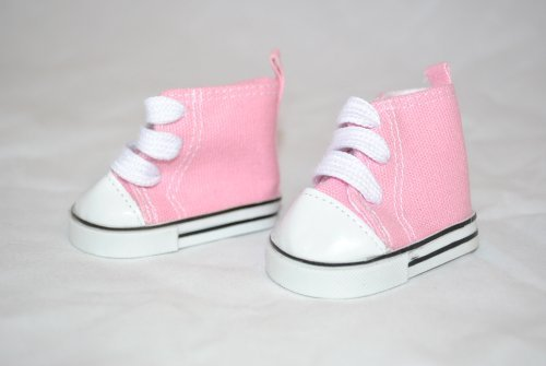 Unique Doll Clothing High Top Pink Tennis Shoes for American Girl Dolls and Most 18 Doll by Unique Doll Clothing